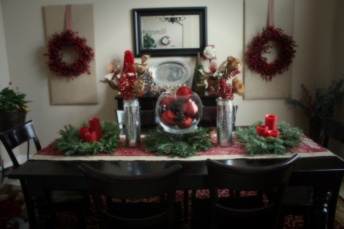 home tour dining softened Christmas Tablescape
