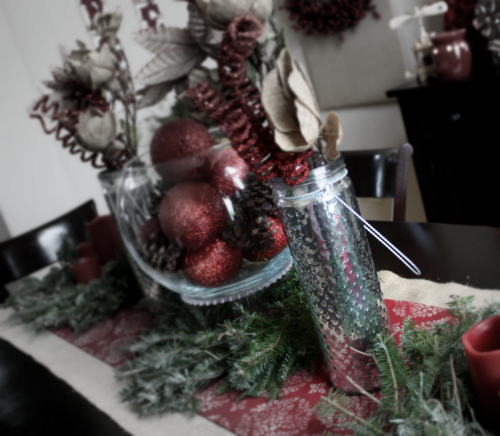 home tour vase Christmas Tablescape