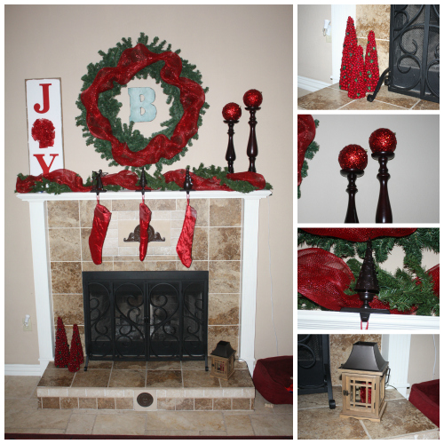 mantel collage 500x500 Christmas Mantel Decor