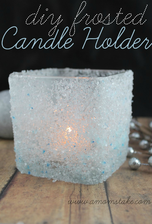 DIY-Frosted-Candle-Holder