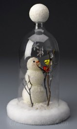 http://craftsncoffee.com/2012/01/13/make-a-snowman-cloche-from-a-soda-bottle-plus-seven-more-snowman-crafts/