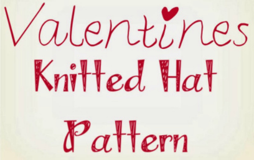 valentines knitted hat pattern