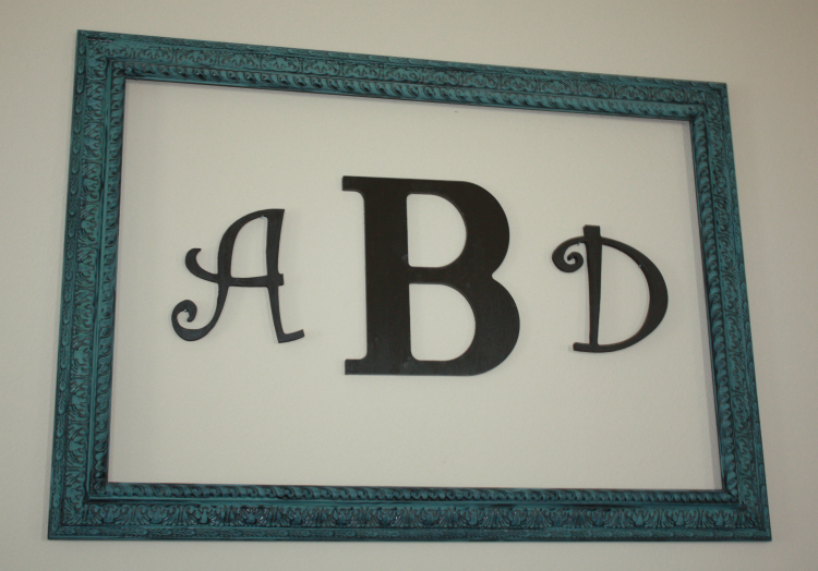 Diy Monogrammed Wall Art 750