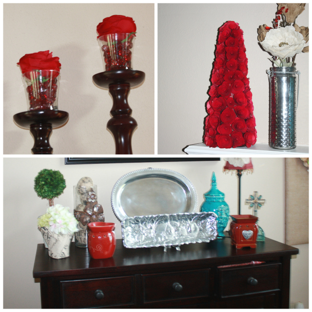 Spring Home Tour Red Collage
