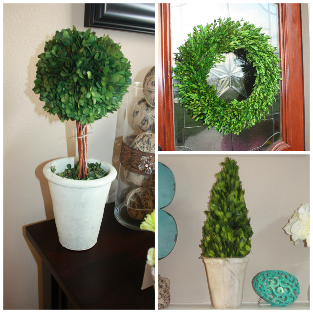 Spring Home Tour Topiary Collage