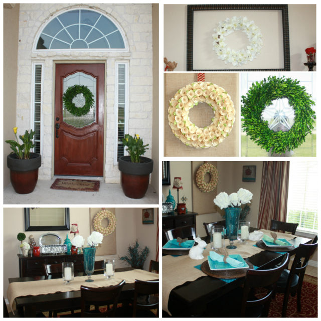 Swing into Spring Porch, Wreaths and Table