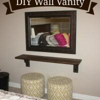 DIY A Wall Vanity