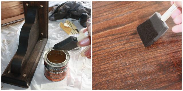 Polyurethane on the Floating Wall Vanity