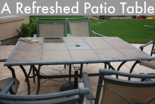 Refreshed Patio Table