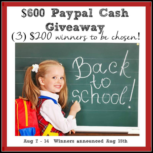 Back to School Giveaway 500