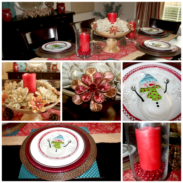 Christmas Tablescape Collage