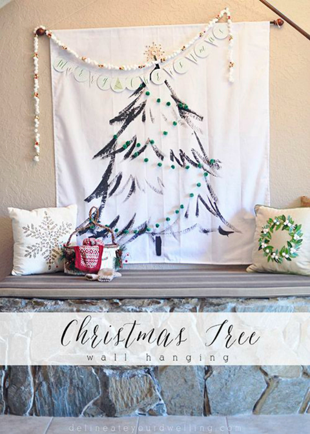 christmas tree wall hanging