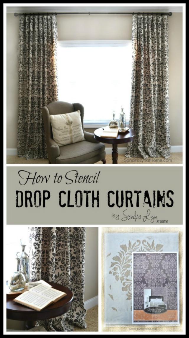How-to-Stencil-Drop-Cloth-Curtains-Sondra-Lyn-at-Home