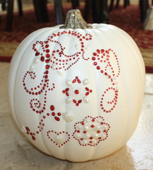 pumpkin red bling