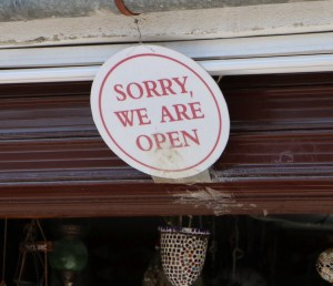 Sorry, we are open