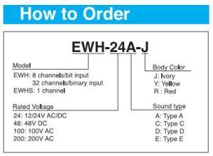 Cách chọn mã loa EWH PATLITE