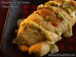 Hasselback Garlic Cheese Bread with Chiles