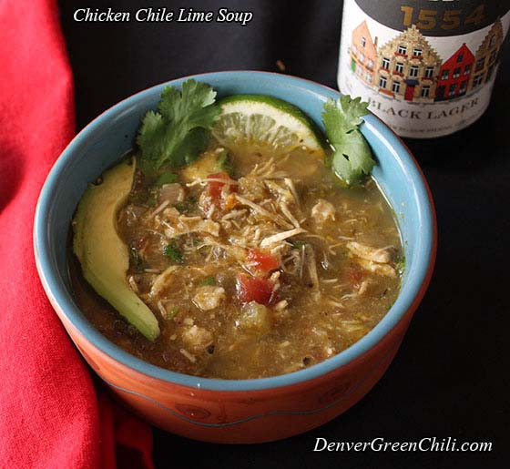 Chicken Chile Lime Soup - Denver Green Chili