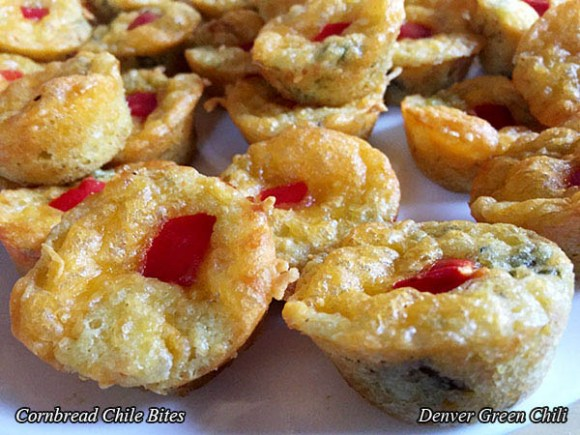 Chili Cornbread Mini Muffins