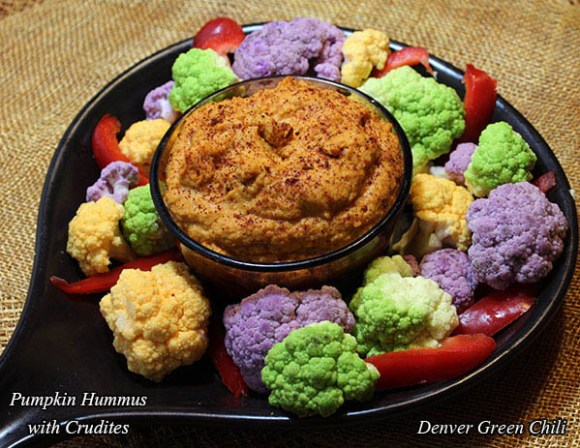 Pumpkin Hummus with Veggies