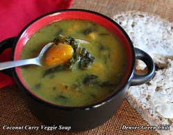 Coconut Curry Spinach Squash Soup