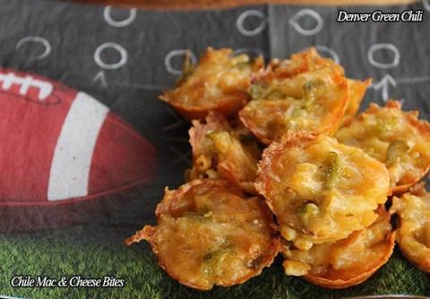 Green Chile Macaroni and Cheese Bites