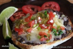 Molletes open faced sandwich