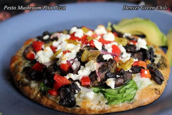 Spicy Individual Mushroom Pizza