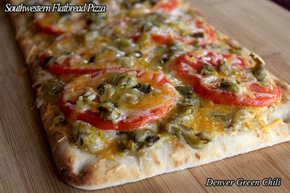 Green Chile Pizza