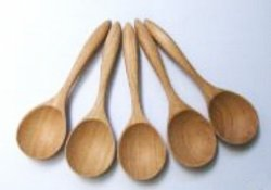 6 Wooden Soup Spoons
