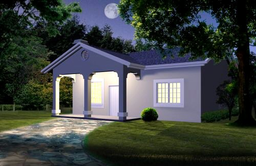 casa de 1 piso y 1 habitacion