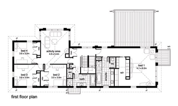 Casa moderna de 4 habitaciones y 391 metros cuadrados for Casa moderna 50 metros cuadrados