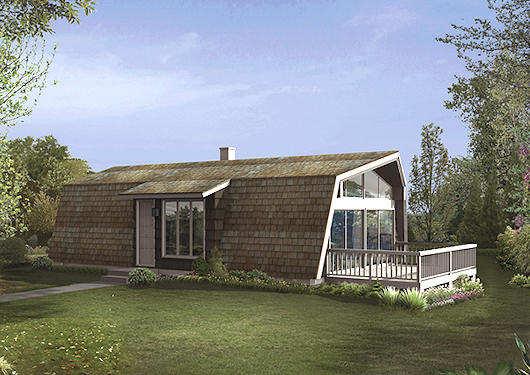 Extraña casa de dos dormitorios y 89 metros cuadrados