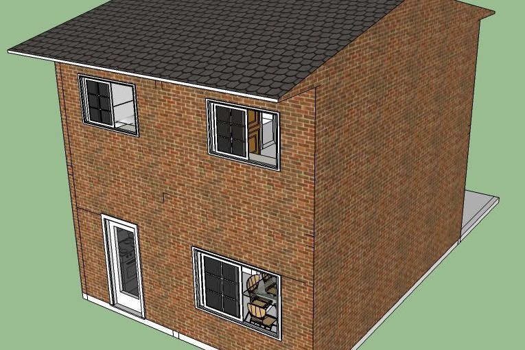 Plano propio de duplex de tres dormitorios de 84 metros cuadrados