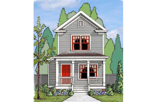 Duplex de madera de dos pisos y tres dormitorios