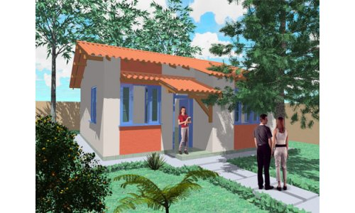 Sencilla y economica casa de tres dormitorios y 67 metros cuadrados