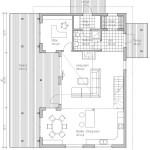 Plano en dos dimensiones de la planta baja