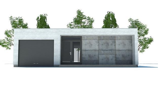 Casa de ciudad moderna de una planta tres dormitorios y for Planos y fachadas de casas modernas de una planta