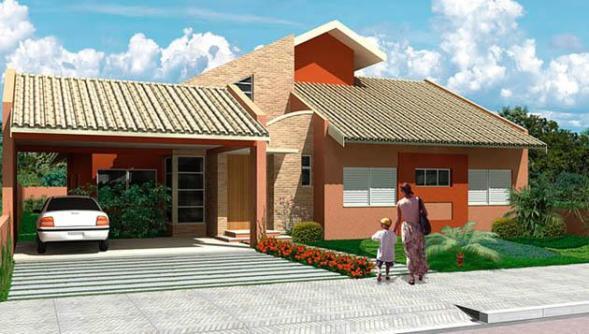 Casa sencilla de una planta, tres dormitorios y 95 metros cuadrados