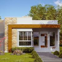 Plano de casa moderna economica de 3 dormitorios y 70 metros cuadrados