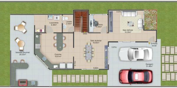 Casa de dos plantas tres dormitorios y 237 metros for Planos de casas de dos plantas y tres dormitorios