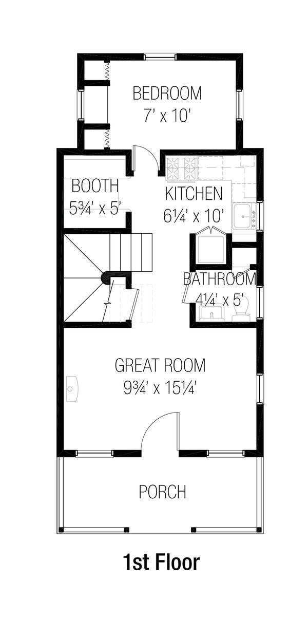 Casa angosta de dos plantas tres dormitorios y 81 metros for Dormitorio 6 metros cuadrados