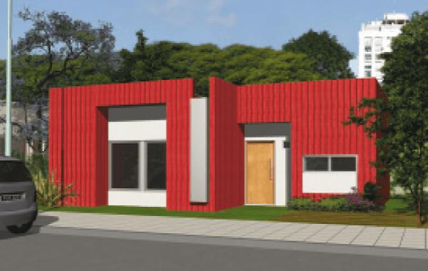 Plano de casa procrear maderera de 3 dormitorios y 81 for Casa clasica procrear 1 dormitorio