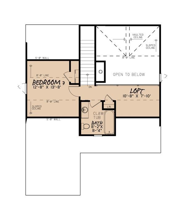Plano planta alta casa de pisos y tres dormitorios