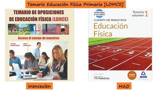 TEMARIOS a Maestro de EDUCACIÓN FÍSICA Primaria [Adaptados a LOMCE]