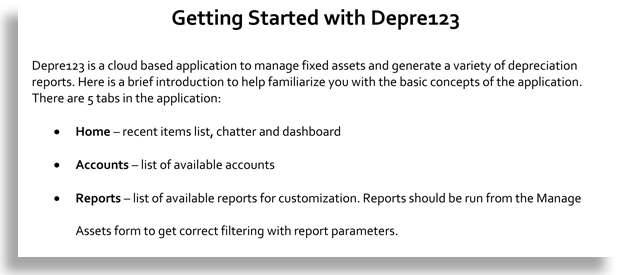 Depre 123-Getting Started-ds