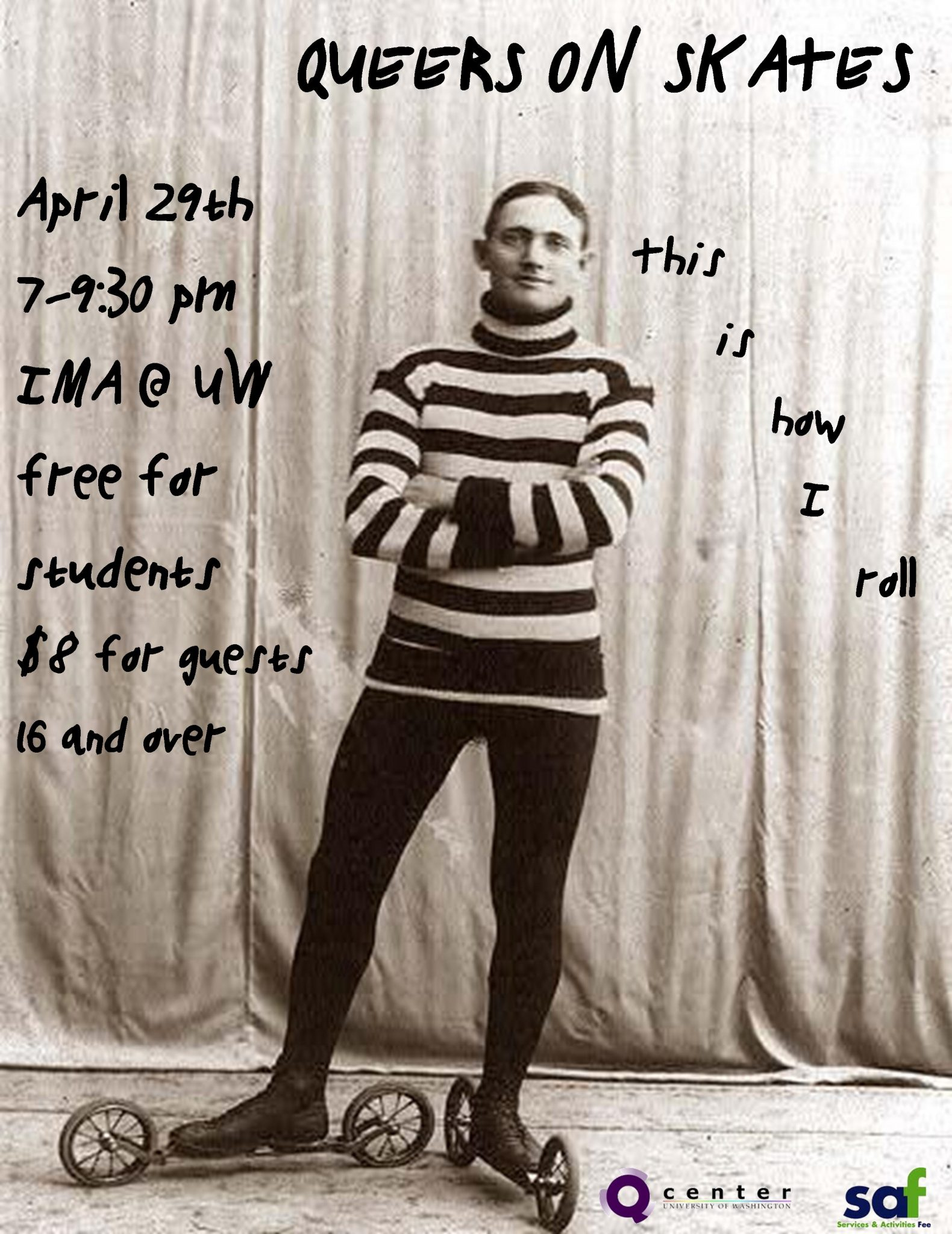 queers on skates, april 29th, uw ima
