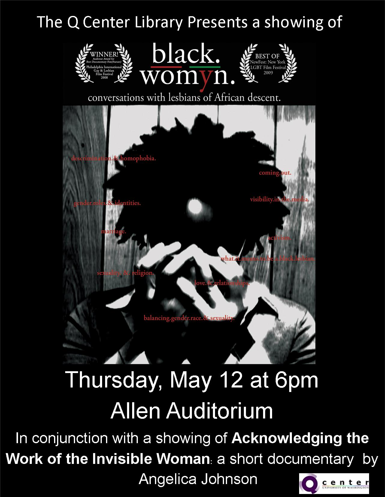 showing of Black./Womyn.