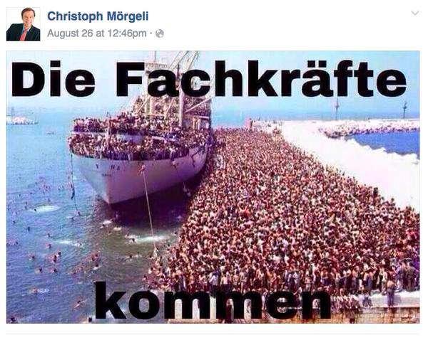 Unten links im Bild die ehemalige Putzfrau von Hans Fehr.