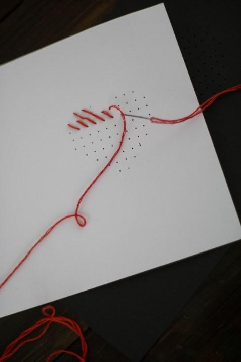 DIY Karte Sticken Valentstag Herz-4